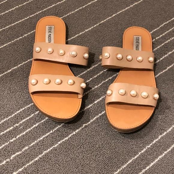 000d32cc03d 💫Steve Madden Jole Pearl Tan Sandals 8💫. M 5a5a8a7b3afbbd4a34e640e9